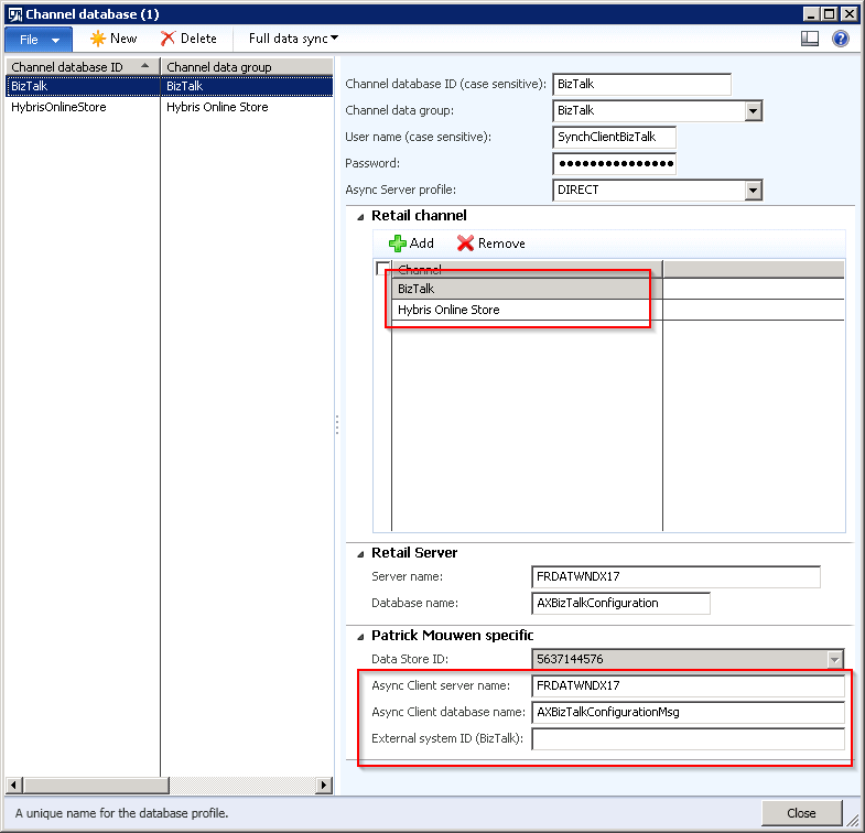 Microsoft Dynamics AX Retail channel database customization