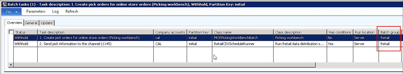 Allocate batch task to batch group