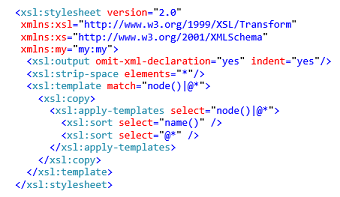 AX7 Data Management Example XSLT