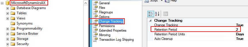 Microsoft Dynamics Retail - Change tracking