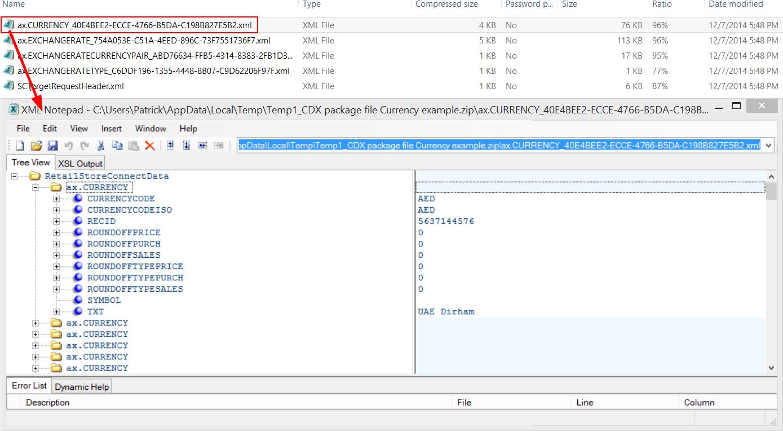 CDX XML content