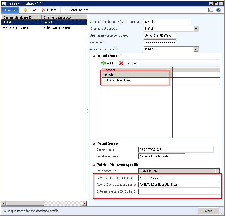 Microsoft Dynamics AX Retail channel database customization